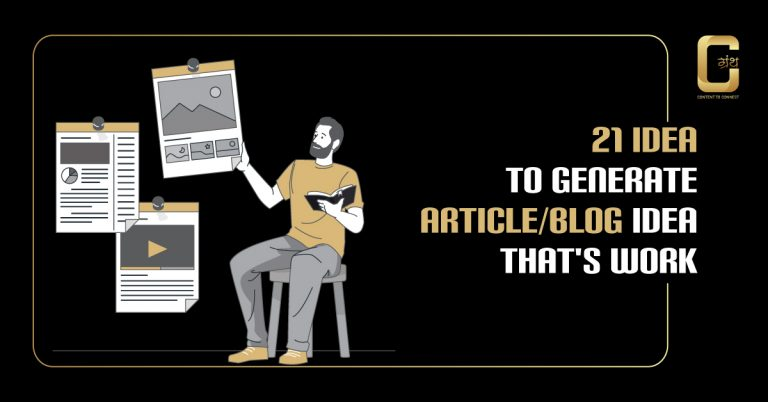 21 new idea to generate article/blog idea that's work in 2020